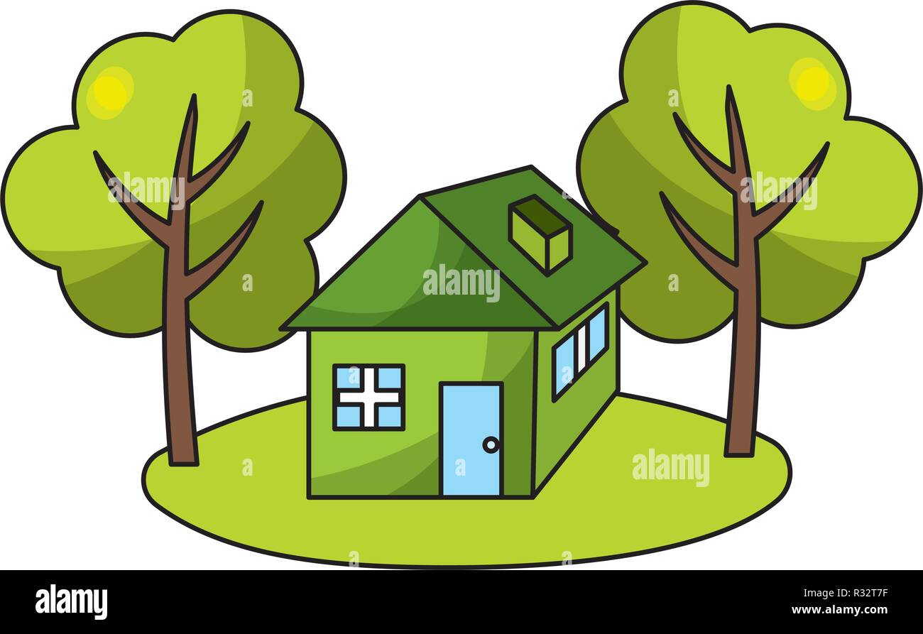 Ecological Green House With Trees Cartoon Vector Illustration Graphic Design Stock Vector Image Art Alamy Cartoon tree set with lots of different types., its filesize is 1.41mb, you can download this design file for free. https www alamy com ecological green house with trees cartoon vector illustration graphic design image225641683 html