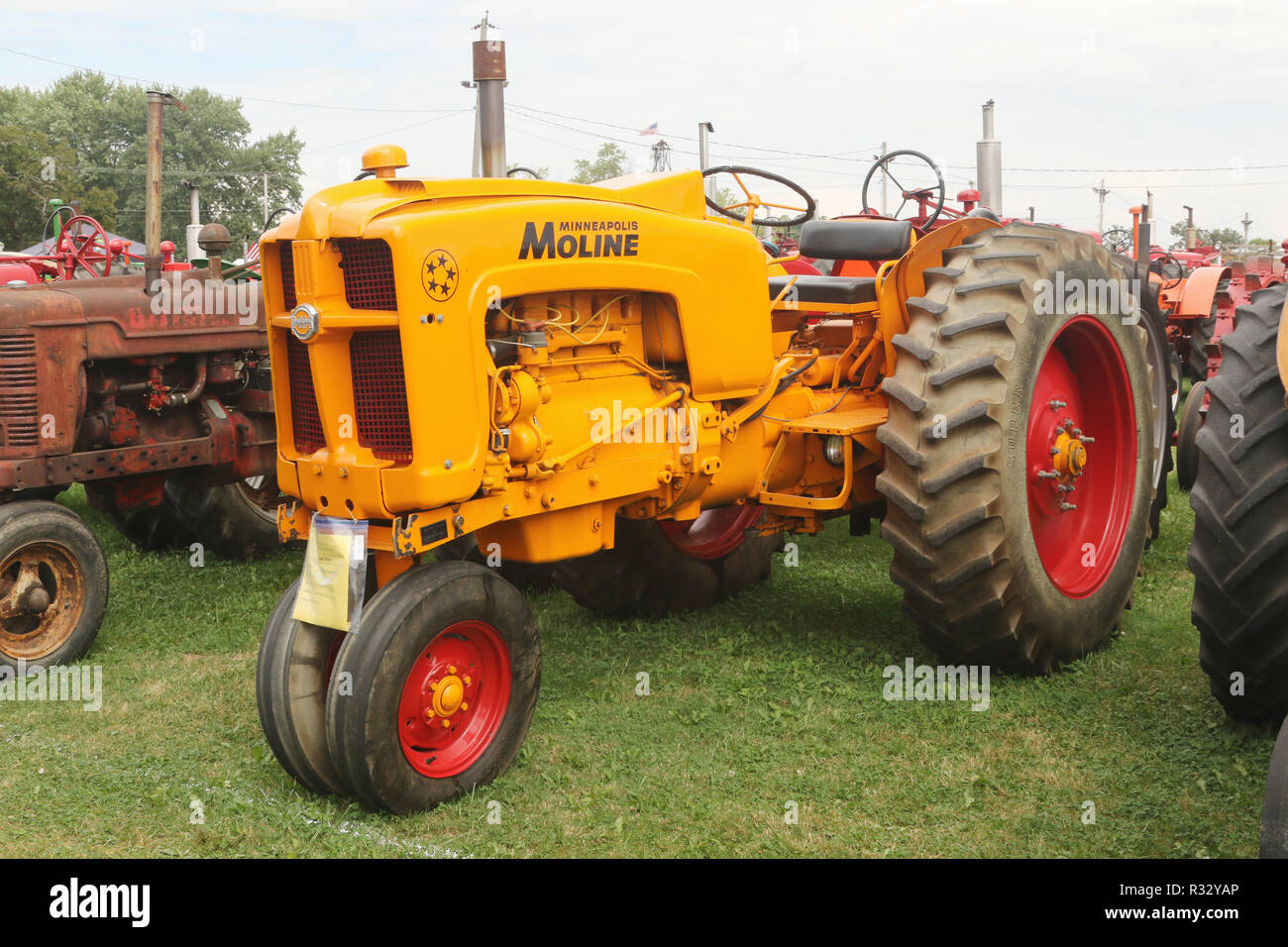 Tractor- 1957 Minneapolis Moline Model 5 Star. Canfield Fair. Mahoning County Fair. Canfield, Youngstown, Ohio, USA. - Stock Image
