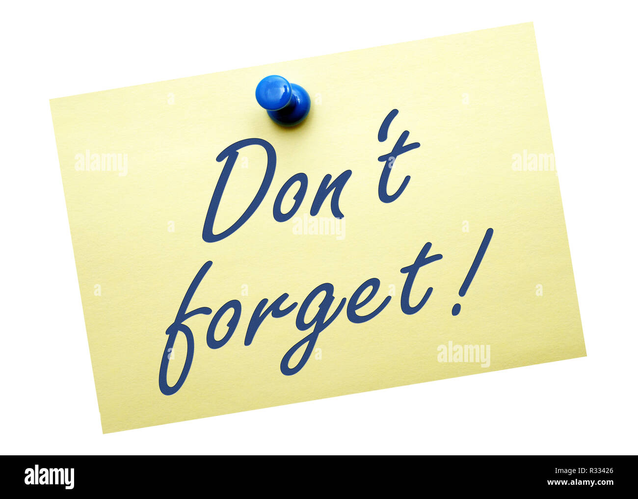 do not forget! Stock Photo