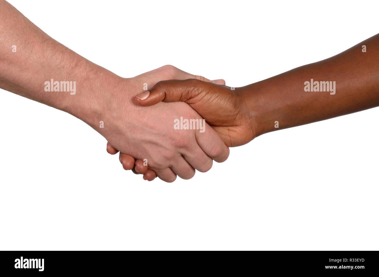 shaking hands internationally - Stock Image