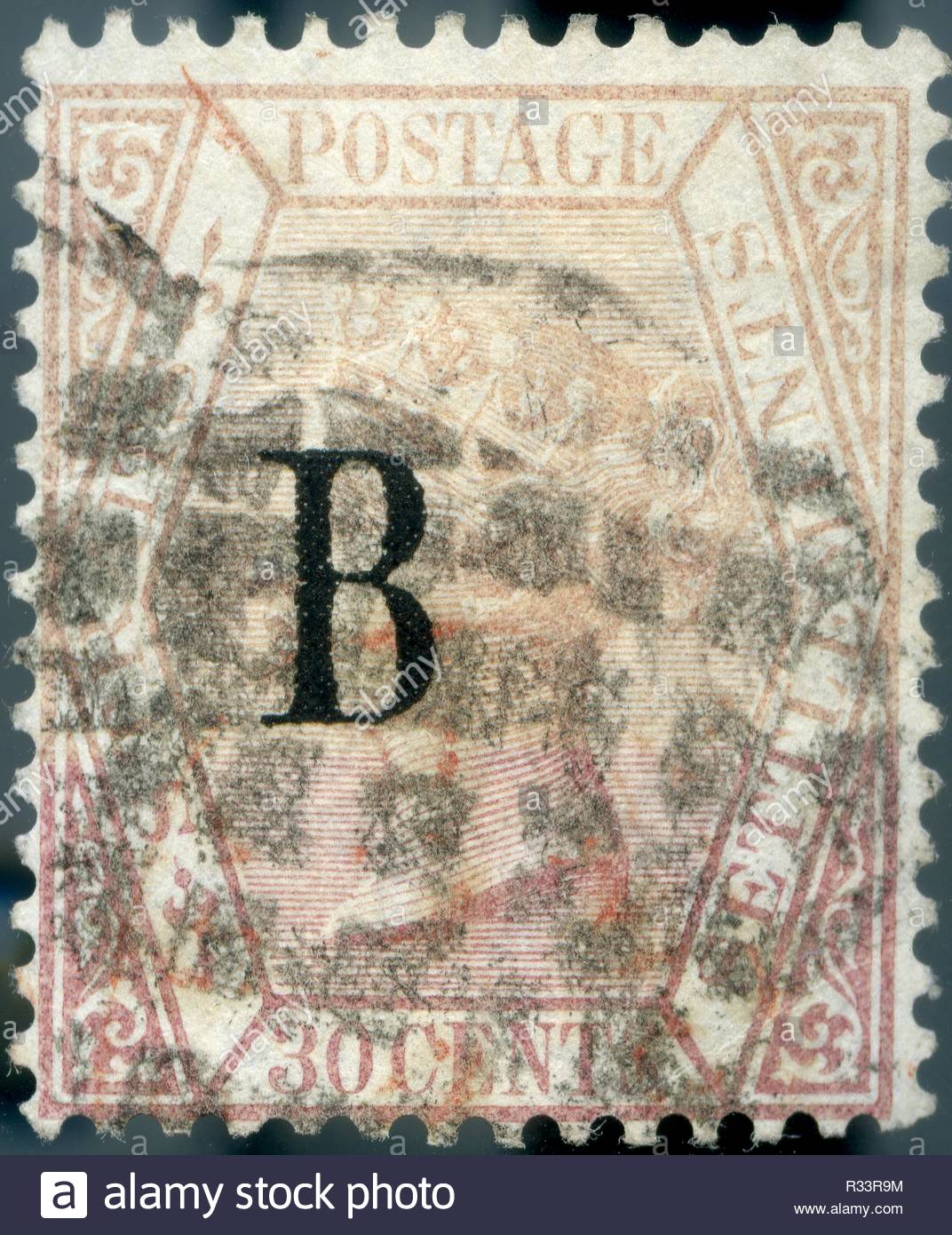 1882 5 British PO Exclusively Issued For Usage In Bangkok B Overprinted On