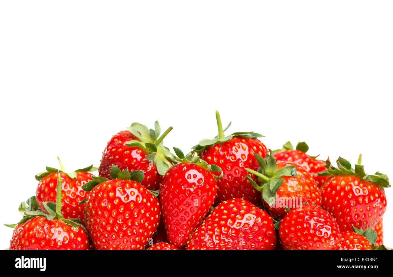 strawberries with copy space Stock Photo