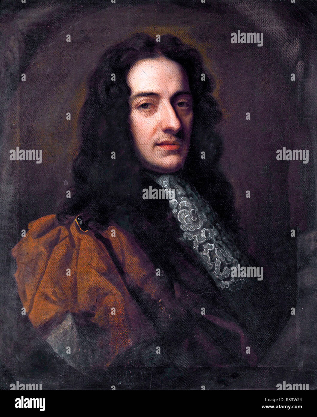 Nicola Matteis, was the earliest notable Italian Baroque violinist in London - Stock Image