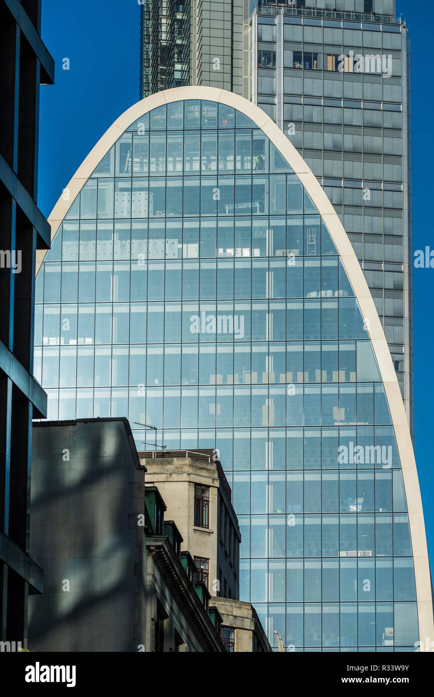 60-70 St.Mary Axe Tower(Can of Ham building), London, England, U.K. - Stock Image