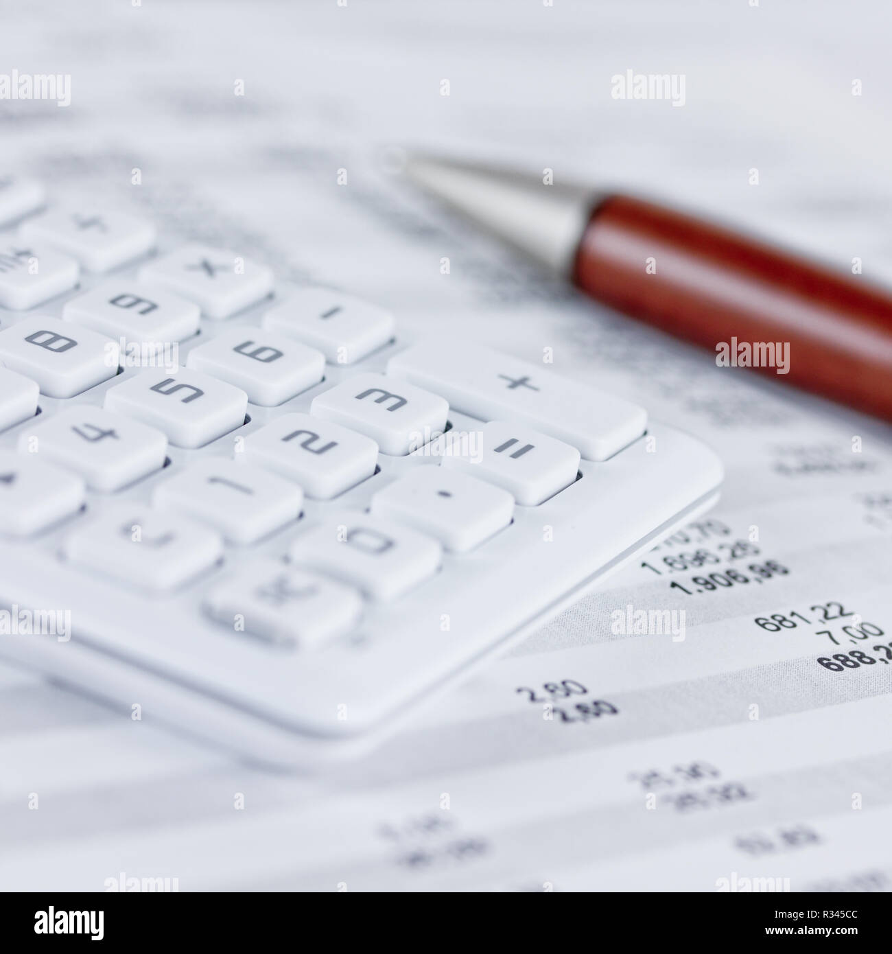 pocket calculator Stock Photo