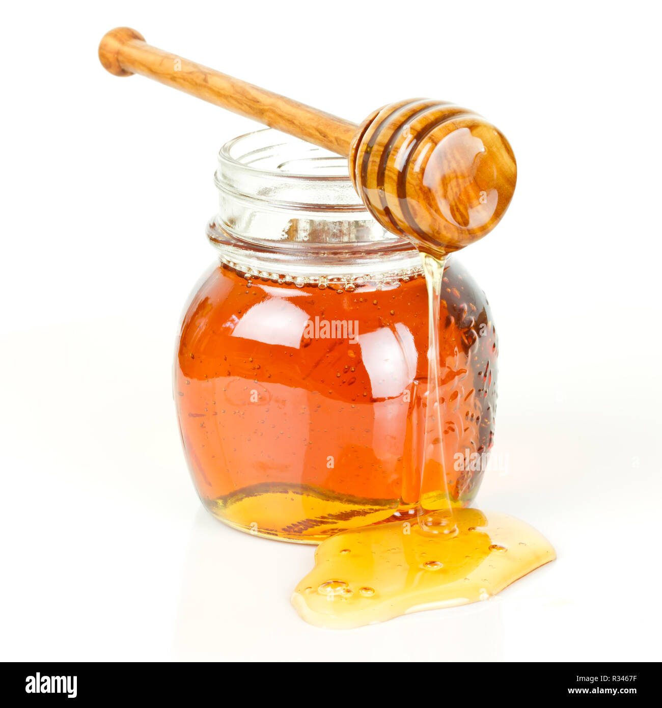 jar of honey - Stock Image