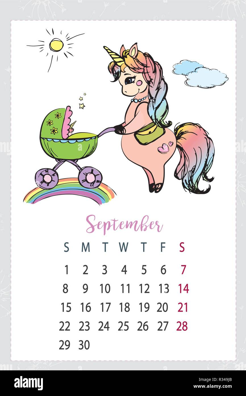 unicorn coloring calendar 2019 wall calendar with special pack of magic unicorns and horses for kids