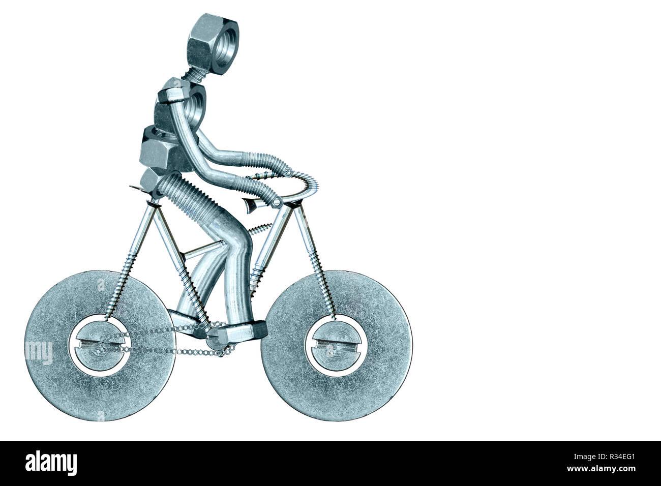 mr groove on his bike - Stock Image