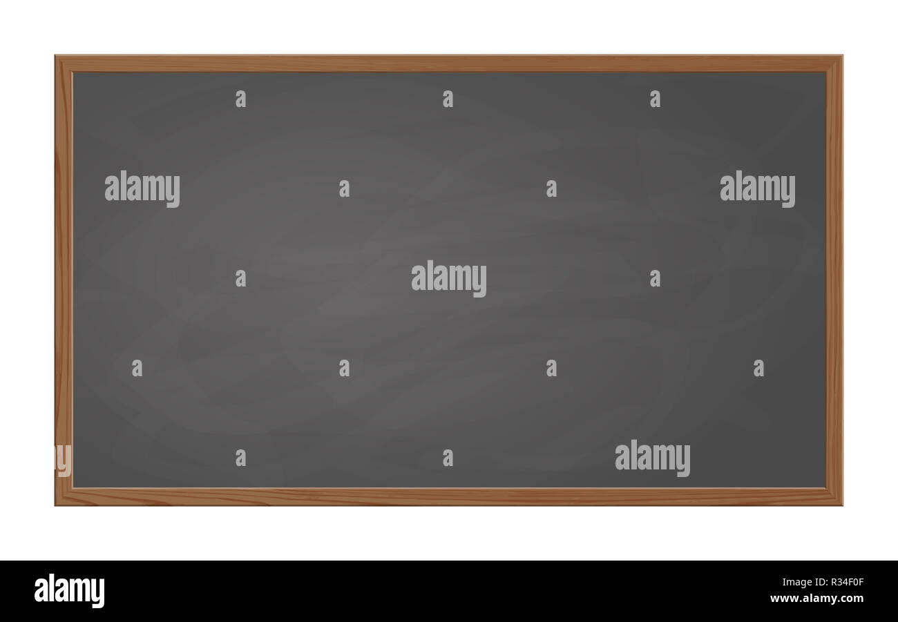 blackboard slate gray with wooden frame Stock Photo