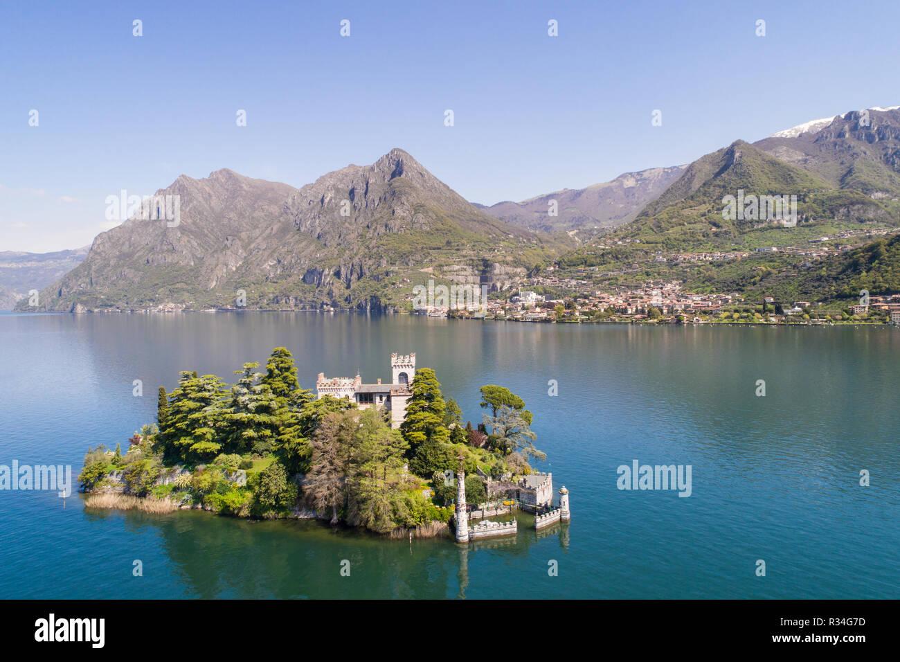 Lake of Iseo, island of Loreto - Stock Image