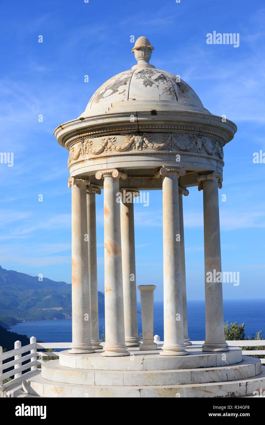 mallorca,son marroig  erzherzog ludwig salvador  sisi  round temple - monopterus,spain - Stock Image