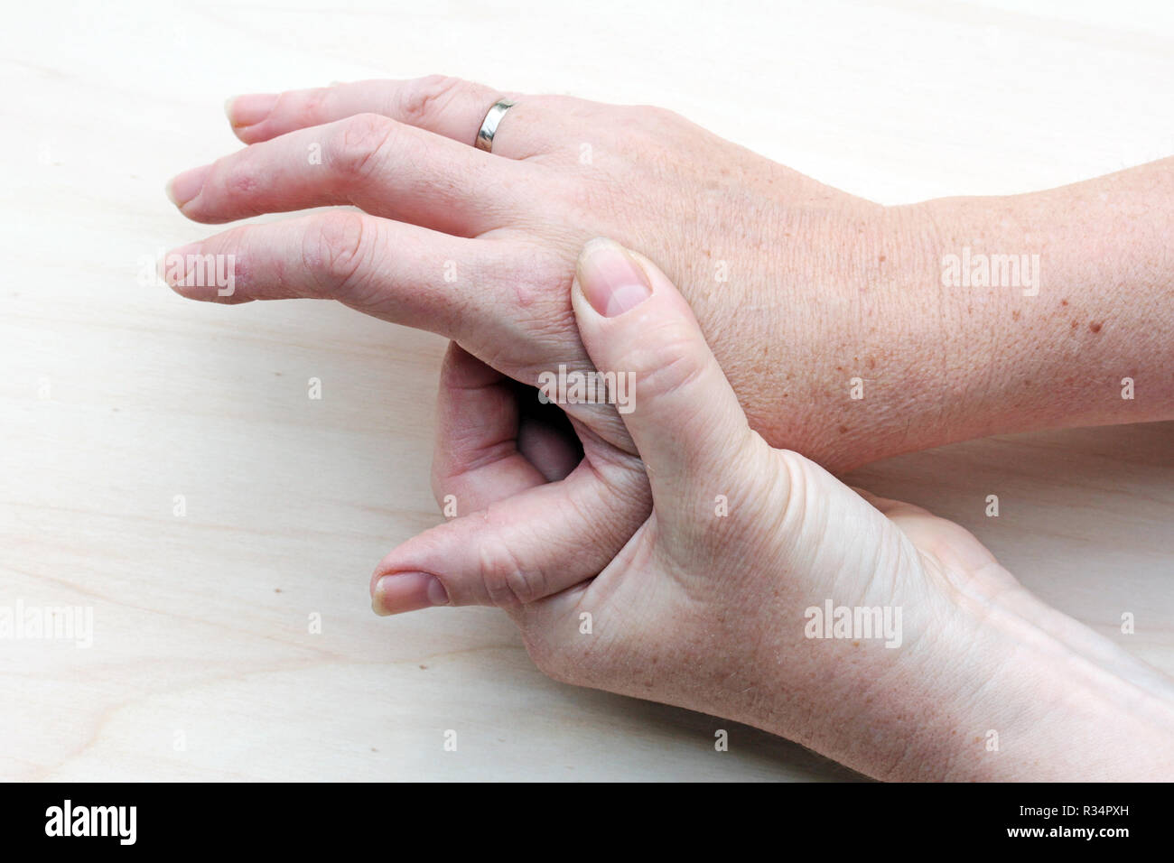 aching hands - Stock Image