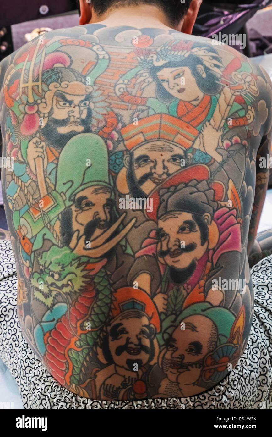 England London Wapping Tobacco Dock Tattoo Convention Tattooed Male Showing