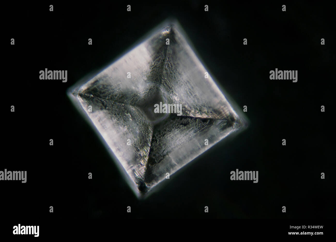 chemistry material crystal texture background - Stock Image