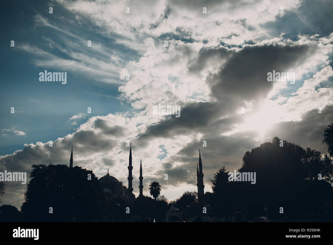 Istanbul, Turkey. Mosque Ayasofya Meydani. - Stock Image