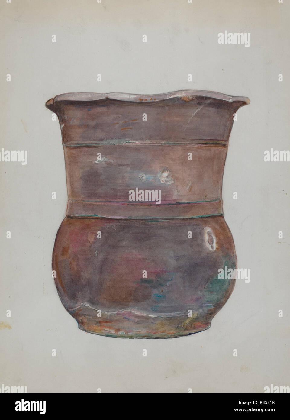 Keramik Art Pottery Pitcher Jug 242-10 Germany Pottery & Glass