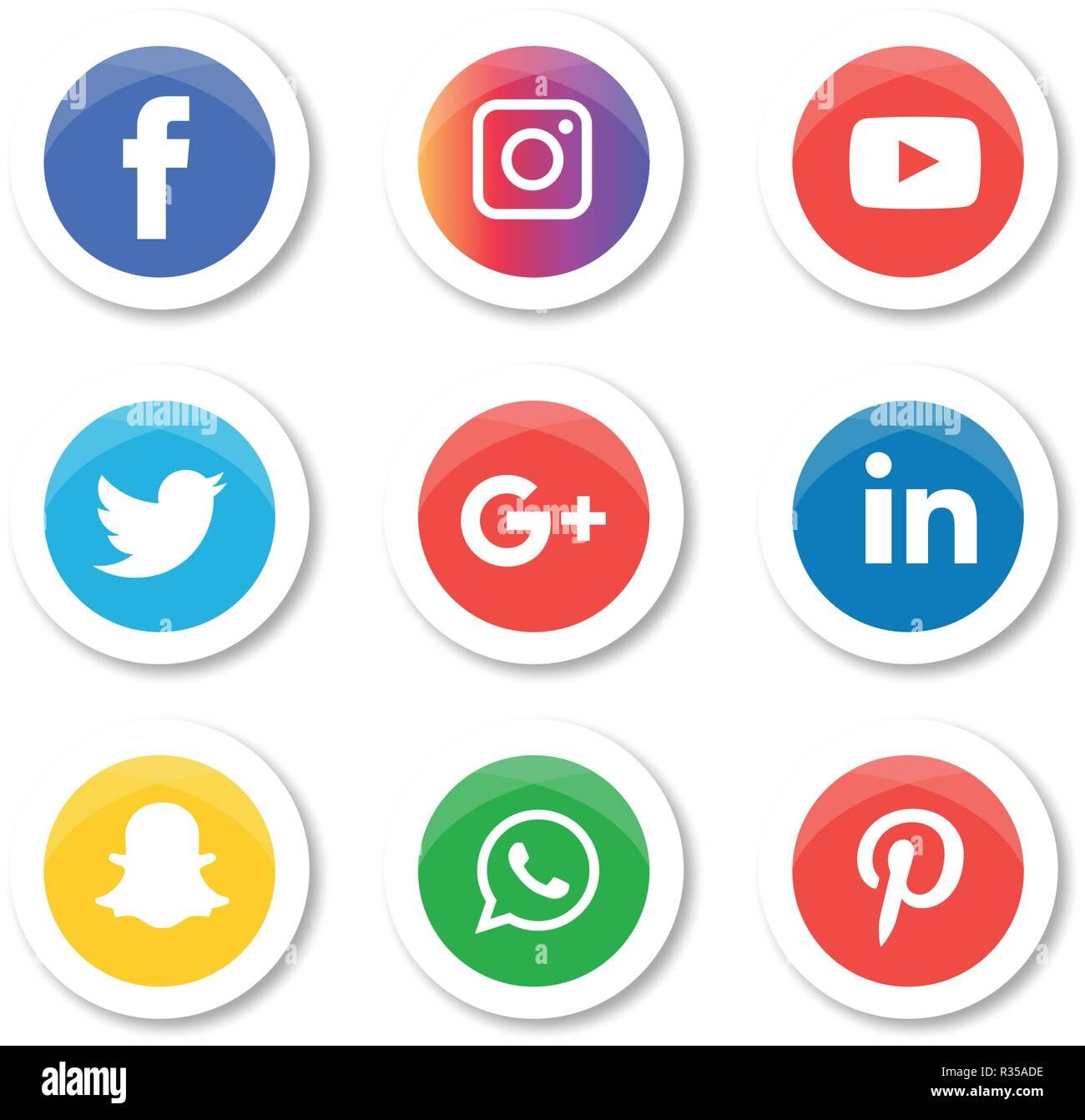 Social media icons set Logo Vector Illustrator, facebook, instagram, twitter,  whatsapp, communication, google plus, device, youtube, smart, phone, net f6a76cf76a