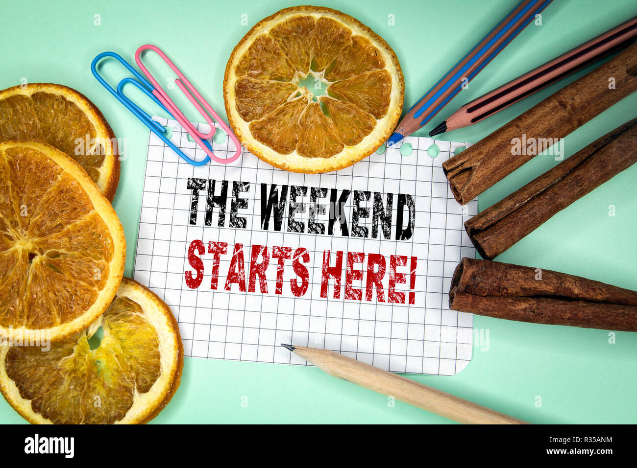 The Weekend Starts Here - Stock Image