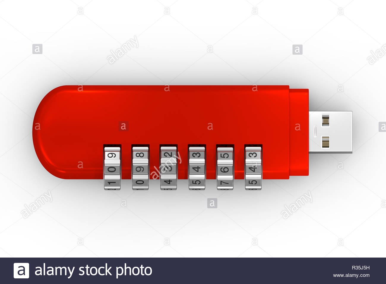 usb code red - Stock Image
