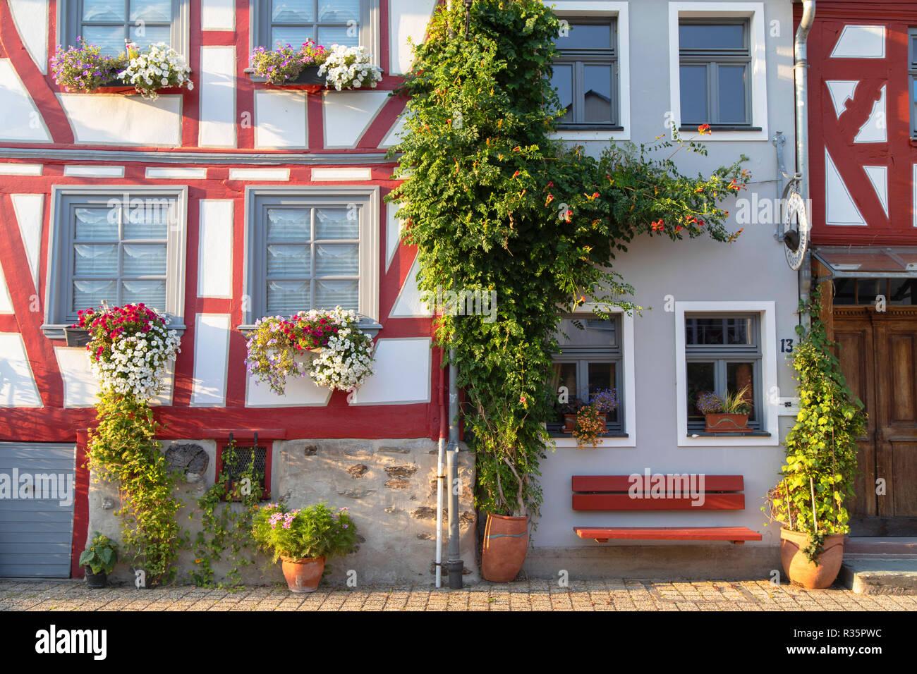 Half-timbered houses, Limburg, Hesse, Germany - Stock Image
