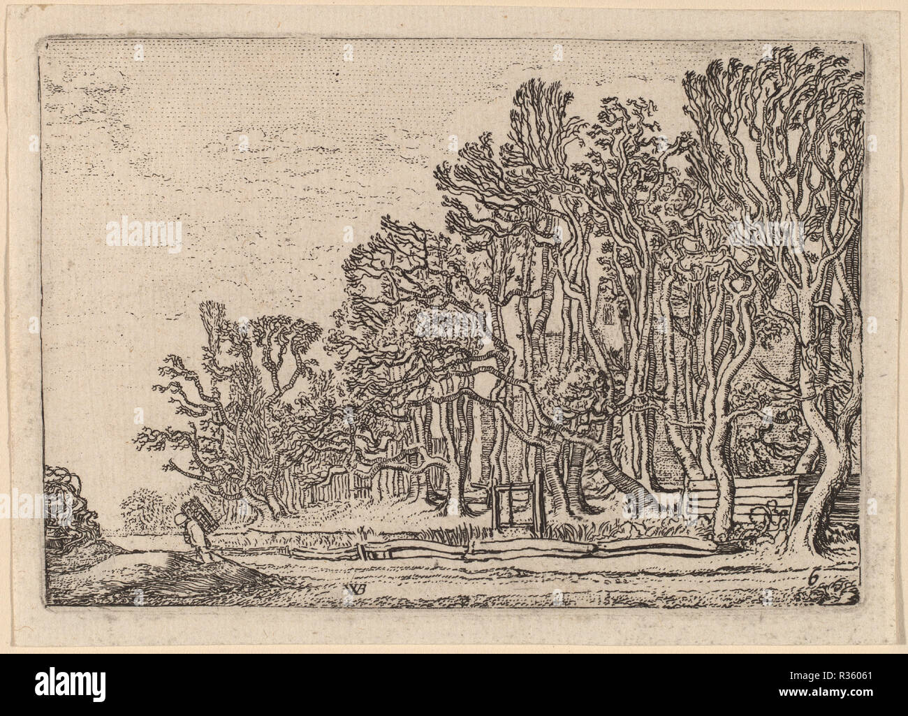 Wandplank 15 Cm.Two Plank Hedges Dated 1621 Dimensions Plate 8 7 X 12 6 Cm 3 7