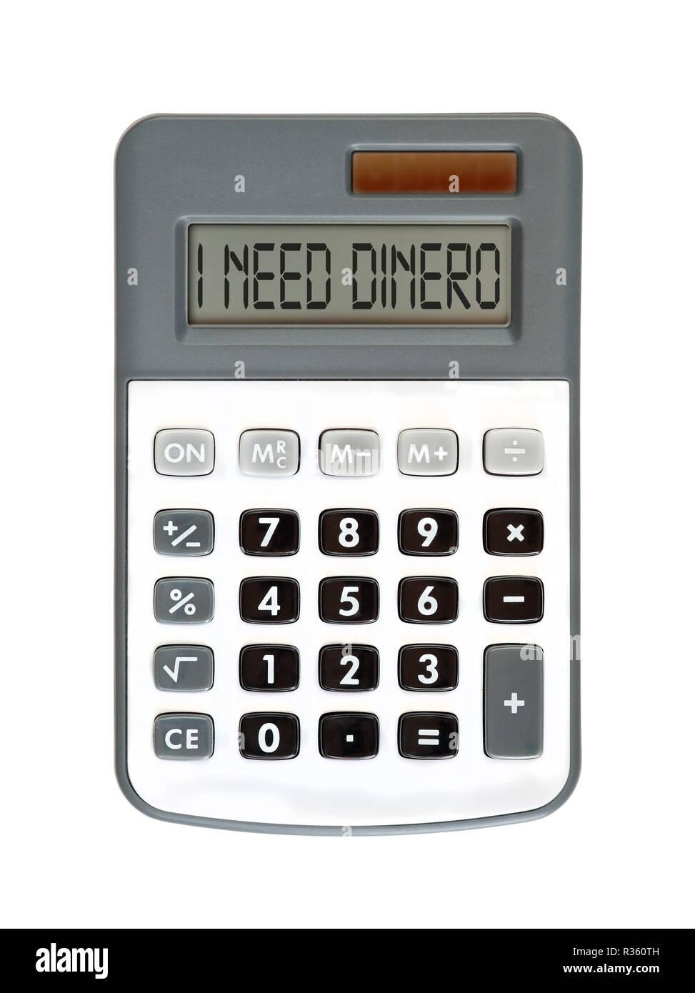 I need dinero - Stock Image