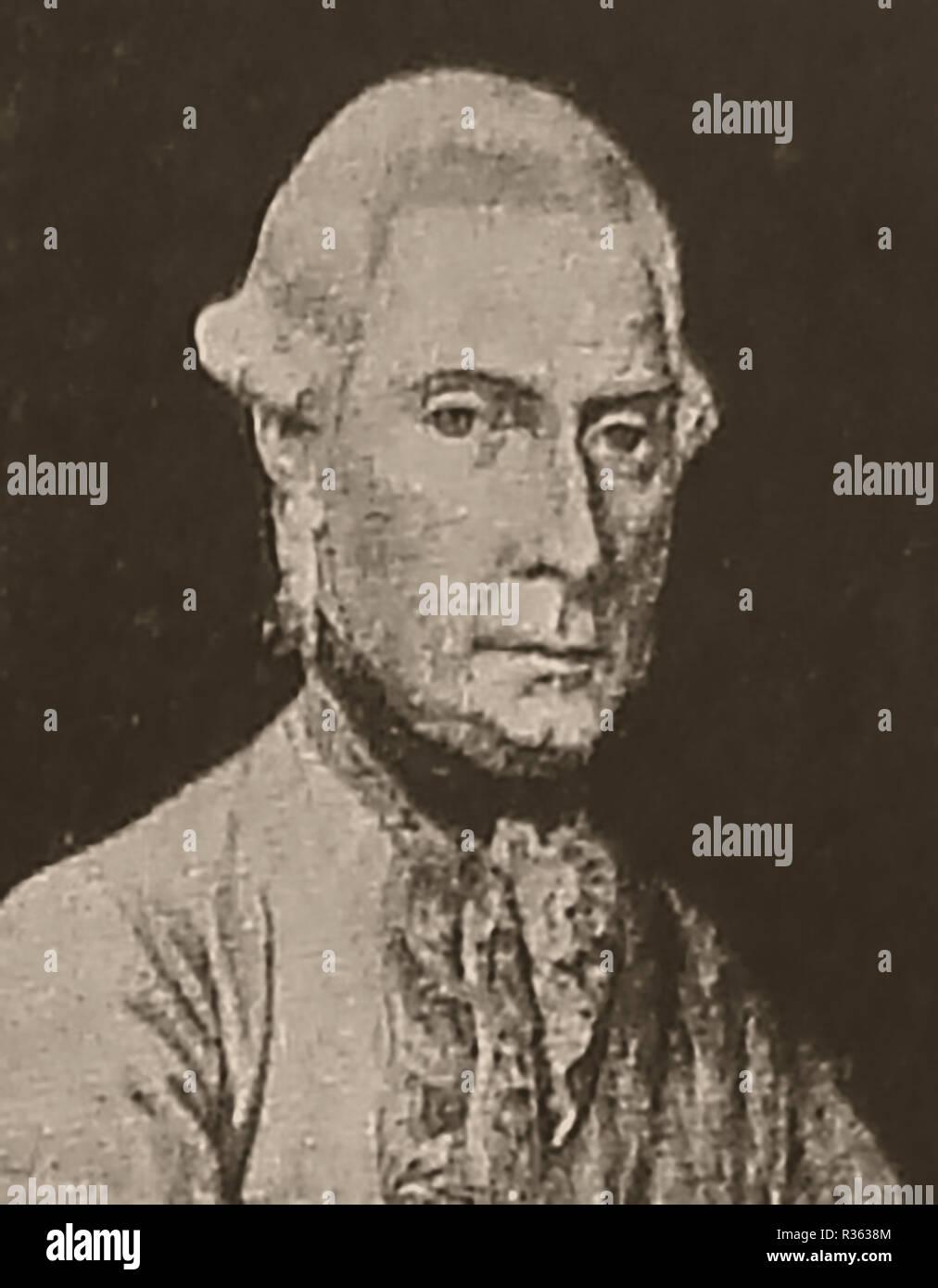 A portrait of  Ernst Gideon Freiherr von Laudon (Laudohn or Loudon) 1717-1790. Military Generalfeldmarschall and  Austrian Generalisimo -Military governor of Habsburg Serbia - Stock Image