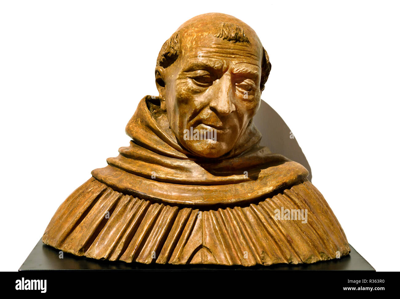Sant Alberto Magno - Albertus Magnus 1493 by Vincenzo Onofri 1493-1524  Italy, Italian, Saint Albertus Magnus, ( 1193 – 1280), also known as Saint Albert the Great and Albert of Cologne, was a German Catholic Dominican friar and bishop. - Stock Image