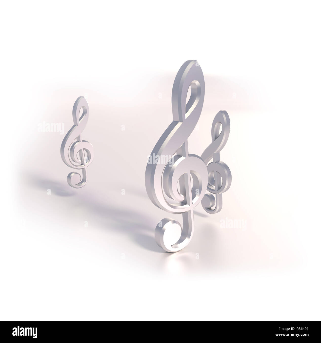 three clef - Stock Image