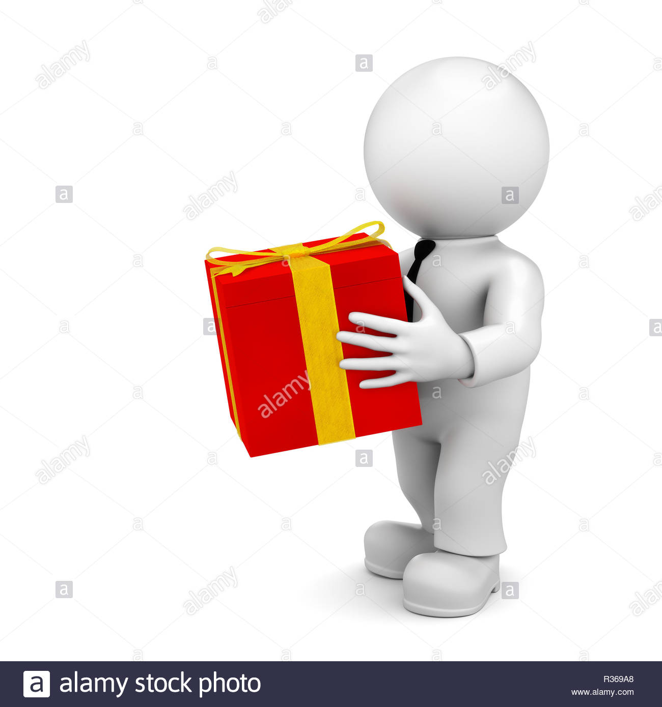 received a present - Stock Image