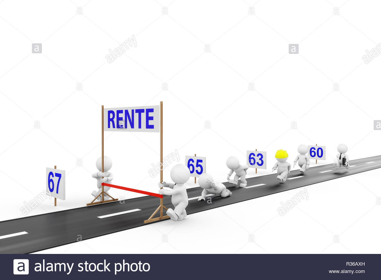retirement with 67 Stock Photo