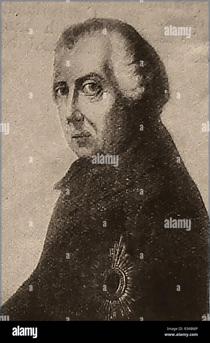 Frederick the Great(Friedrich der Große) , King of Prussia as an old man (succeeded to the throne 1740) also Elector of Brandenburg -nicknamed Der Alte Fritz (The Old Fritz).He was a proponent of enlightened absolutism Stock Photo