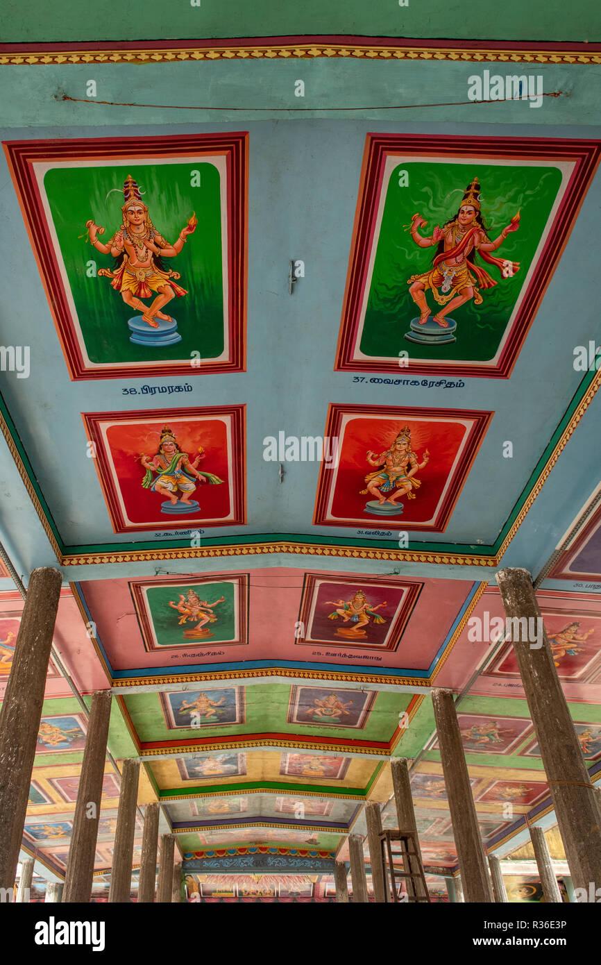 Painted Ceiling of Sabha in Thillai Nataraja Temple, Chidambaram, Tamil  Nadu, India Stock Photo - Alamy