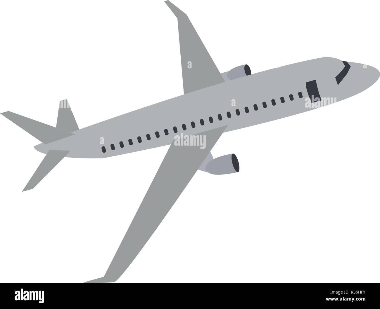 Aero plane graphic design template vector illustration - Stock Vector