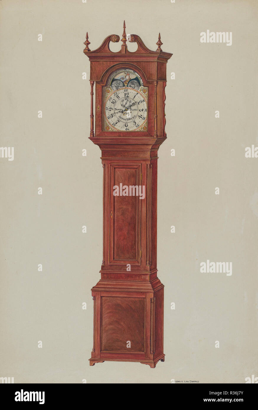 20 Century Stock Photos Images Page 135 Alamy Grandfather Clock Diagram Grandfathers Dated C 1937 Dimensions Overall 355 X 24