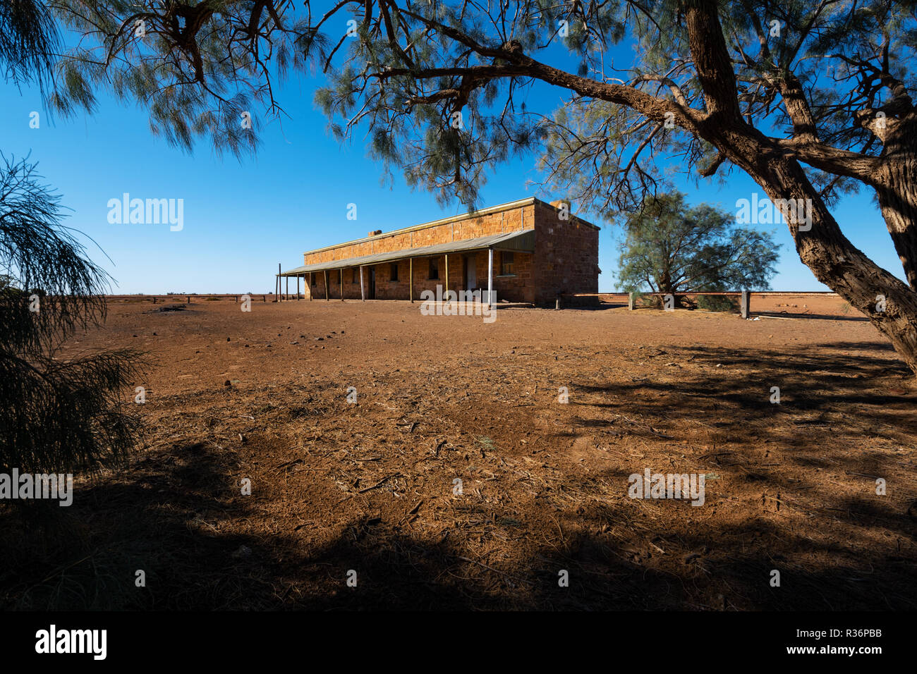 Historic Beresford Siding at the famous Oodnadatta Track. - Stock Image