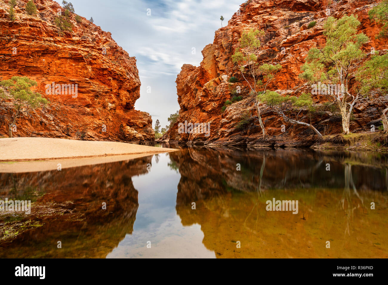 Famous Ellery Creek Big Hole in MacDonnell Ranges. - Stock Image