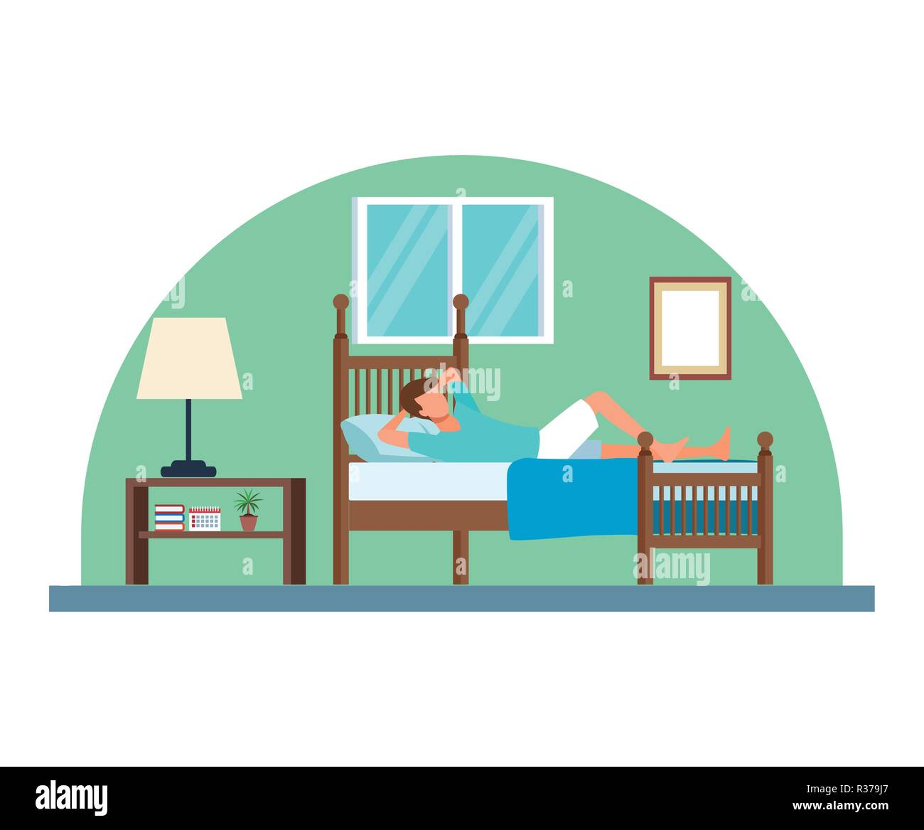 routines at home - Stock Image
