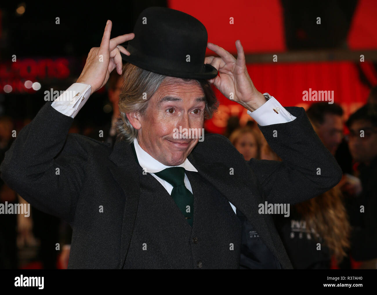 The BFI 62nd London Film Festival World Premiere of 'Stan & Ollie' held at the Cineworld Leicester Square - Arrivals  Featuring: Steve Coogan Where: London, United Kingdom When: 21 Oct 2018 Credit: Mario Mitsis/WENN.com - Stock Image