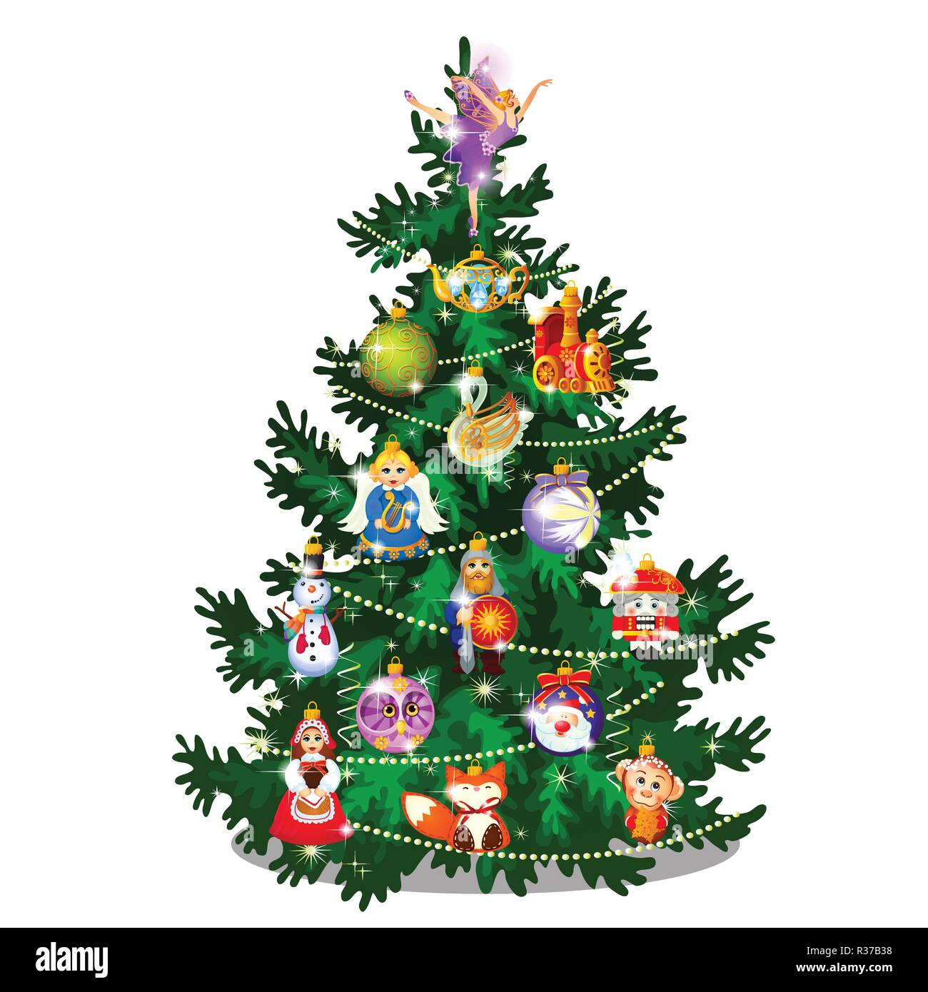 Illustration Christmas Tree Angel High Resolution Stock Photography And Images Alamy Polish your personal project or design with these cartoon christmas tree transparent png images, make it even more personalized and more attractive. https www alamy com sketch with cute christmas tree new year gifts classic christmas decorations and baubles sample of poster invitation and other card vector cartoon close up illustration image225741132 html