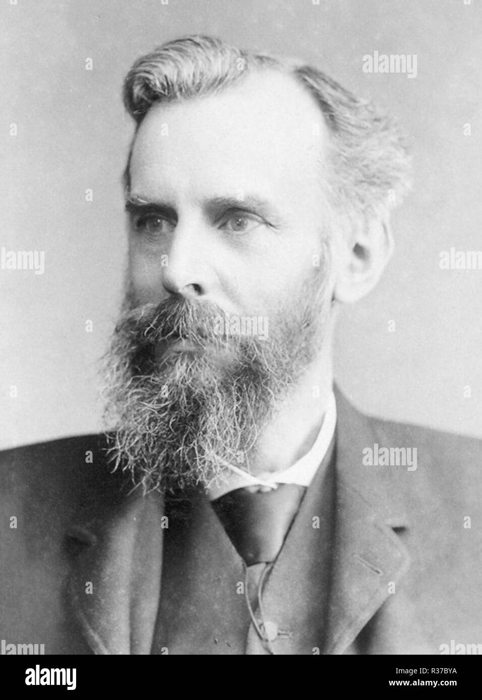 John Venn, (1834 – 1923) English mathematician, logician and philosopher noted for introducing the Venn diagram - Stock Image