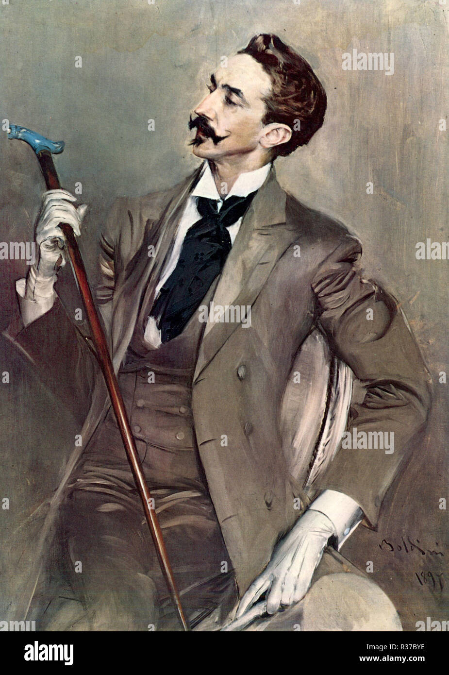 Robert de Montesquiou, Marie Joseph Robert Anatole, Comte de Montesquiou-Fézensac (1855 – 1921), French aesthete, Symbolist poet, art collector and dandy - Stock Image