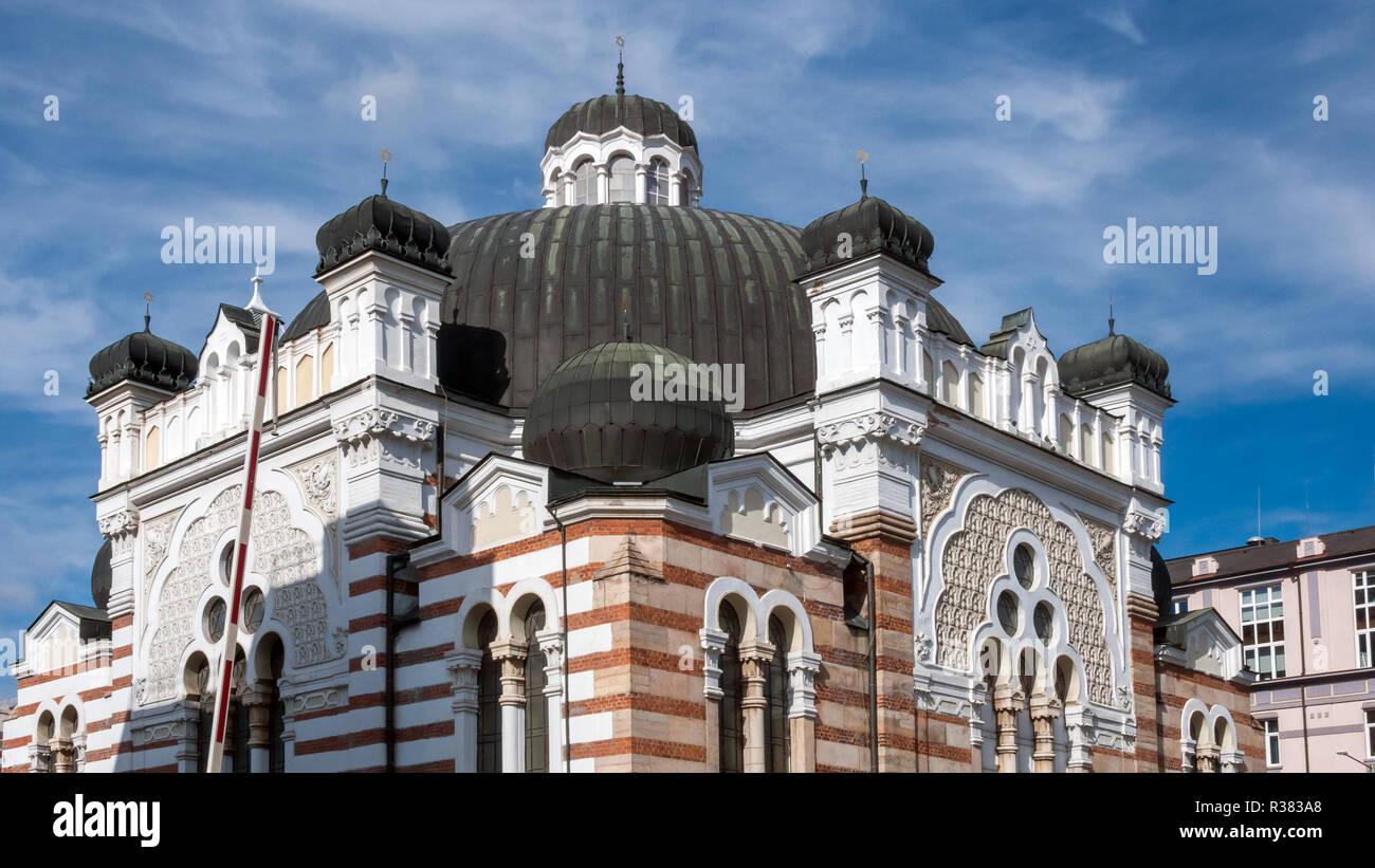 SOFIA, BULGARIA -  OCTOBER 26, 2018: Building of Sofia Synagogue  in city of Sofia, Bulgaria - Stock Image