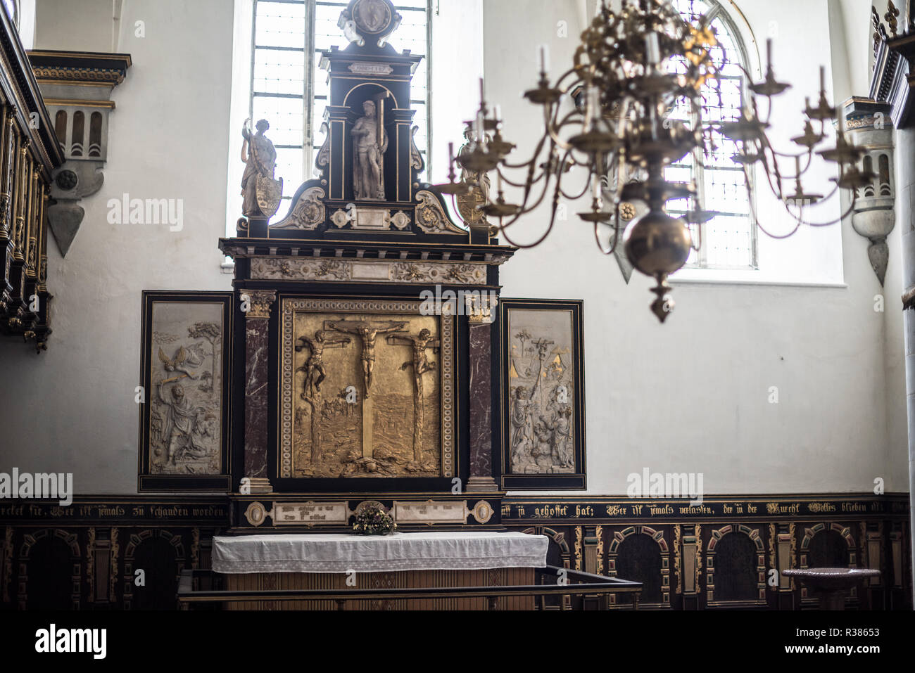 Kronborg Chapel was inaugurated in 1582. A fire at the castle in 1629 left the Chapel mostly untouched, but when the castle was repurposed in the 18th - Stock Image