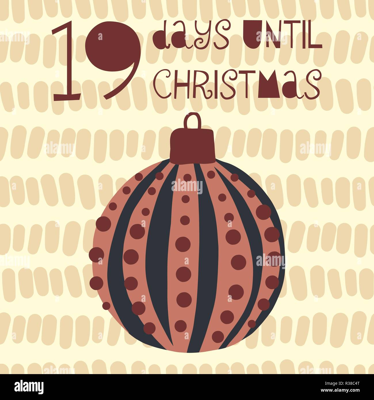 Days Until Christmas Countdown.19 Days Until Christmas Vector Illustration Christmas