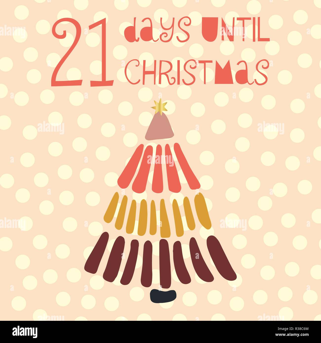 Days Until Christmas Countdown.21 Days Until Christmas Vector Illustration Christmas