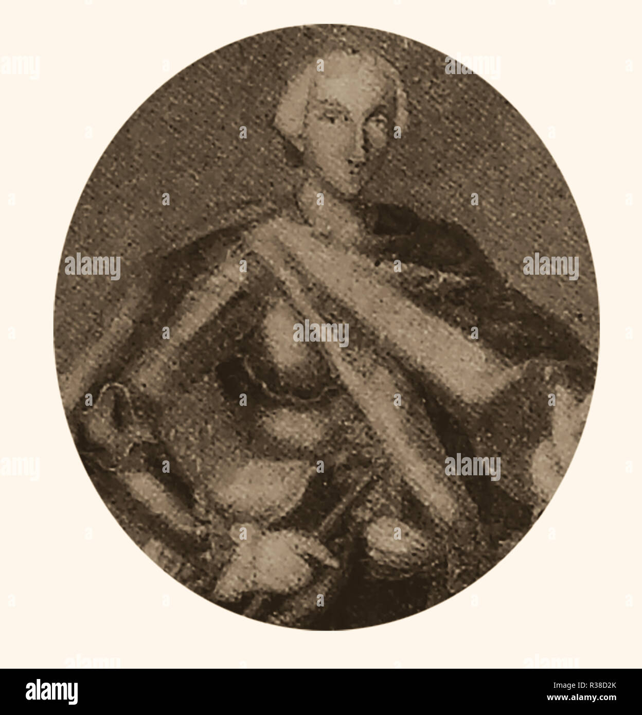 King Charles  III of Spain (half brother of Ferdinand V who he succeeded as monarch on 1759) - Also  King of Sicily and Naples and Duke of Parma and Piacenza and sometimes known as Charles VII of Naples- Full name Carlos Sebastián de Borbón y Farnesio. Charles was well respected and an accomplished printmaker,etcher and artist - Stock Image
