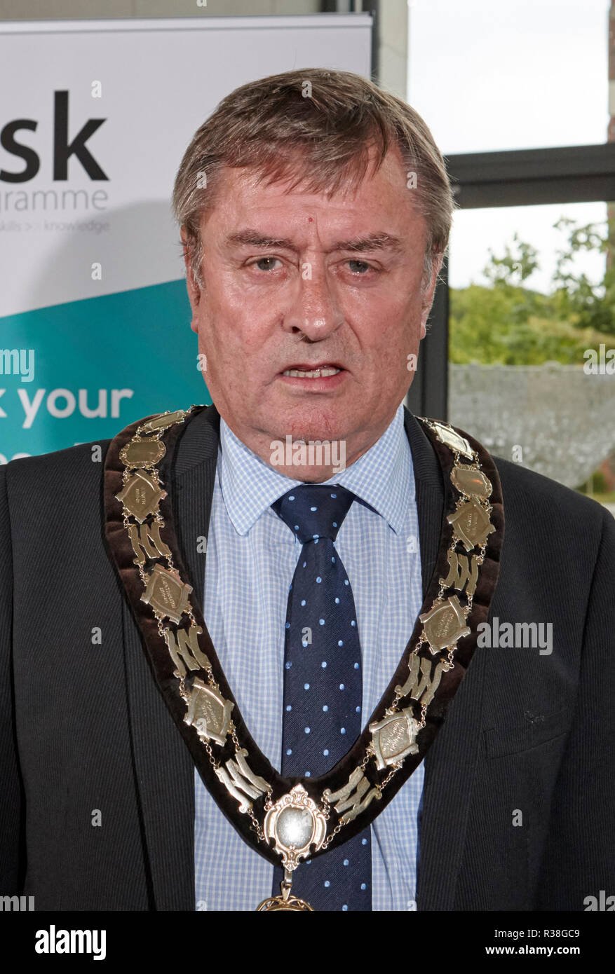 Former Newtownabbey Borough Council Mayor Fraser Agnew Northern Ireland Ulster Unionist politician - Stock Image