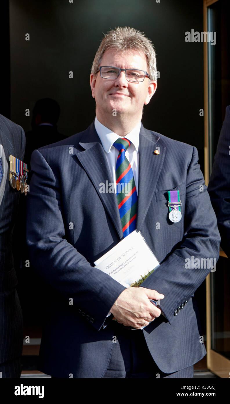Sir Jeffrey Donaldson MP Northern Ireland DUP politician - Stock Image