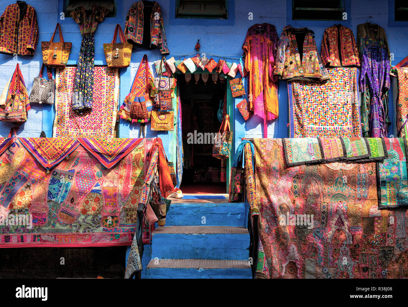 A typical shop front in Jpdhpur India Stock Photo